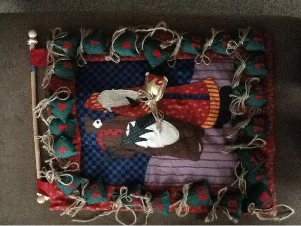 Christmas Fabric Hanging Advent Calendar
