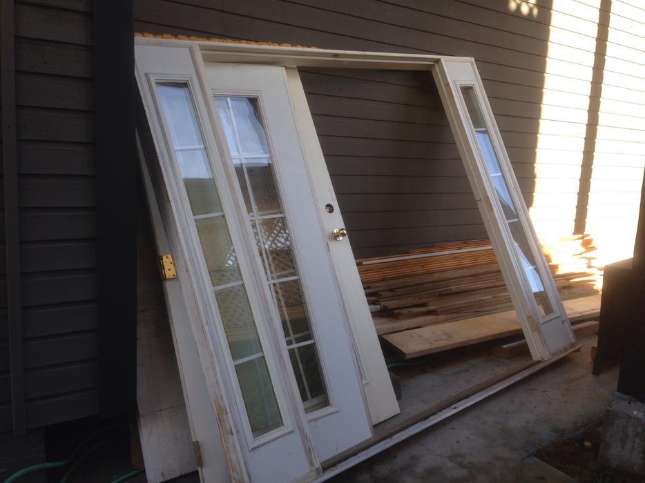 Double exterior french doors west shore langford colwood for Used exterior french doors