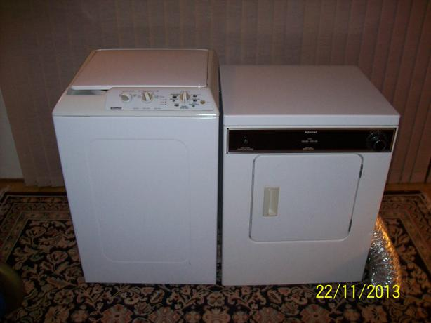 log in needed 185 apartment sized admiral dryer and kenmore washer
