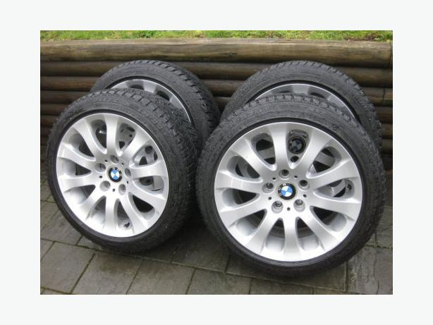 BMW 1734 style 159 rims with Blizzak winter run flat package