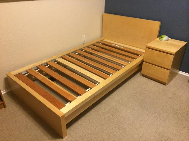 Log in needed 120 183 ikea malm single twin bed birch veneer 120