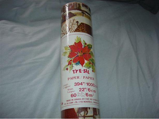 VINTAGE Christmas Holiday GIFT WRAP, NEW! 60 Sq. Ft. Roll