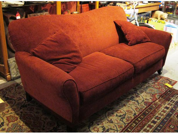 Reduced contemporary rowe furniture red sofa i for Reduced furniture