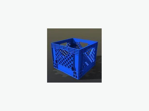 MILK CRATES/SHELLS - STRONG/CLEAN/STACKABLE, 12X12X11, BLUE,GREEN,RED, BROWN,