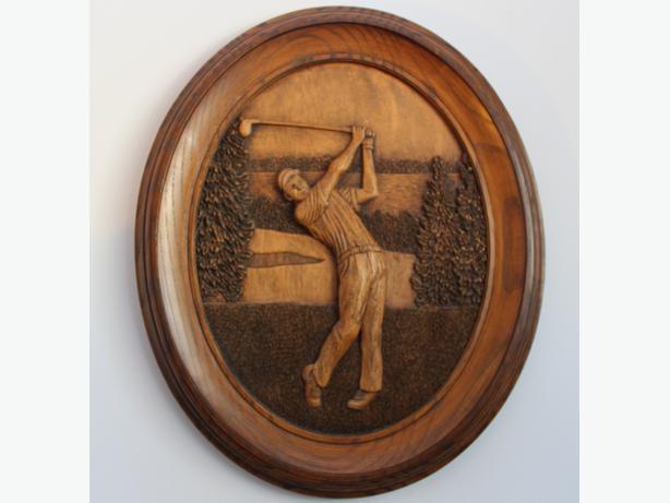 Original kim murray wood carving picture central regina
