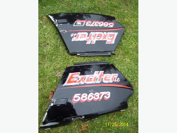 Yamaha Exciter side panels side covers quarter panels