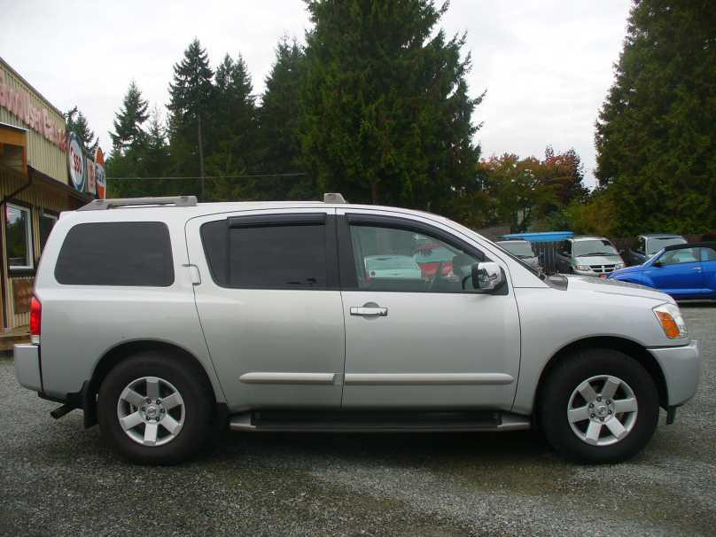 2004 nissan pathfinder armada 7 passenger outside comox. Black Bedroom Furniture Sets. Home Design Ideas