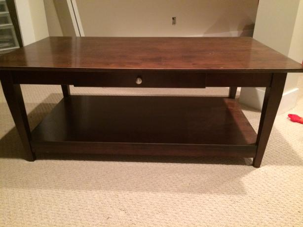 Coffee table with matching end table saanich victoria Matching coffee table and end tables
