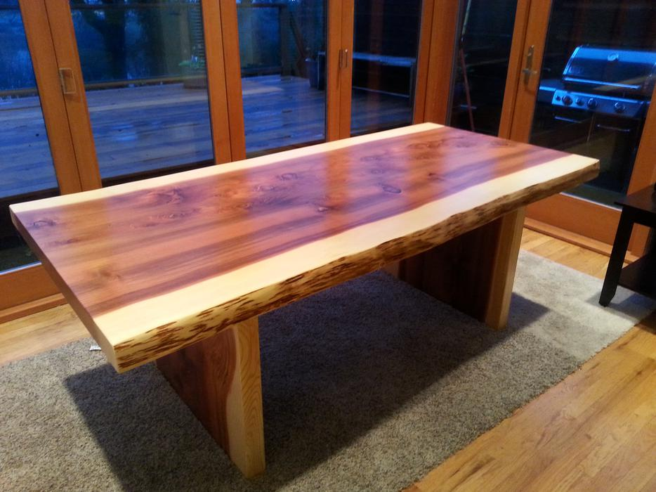 Live edge sequoia dining tables west shore langford