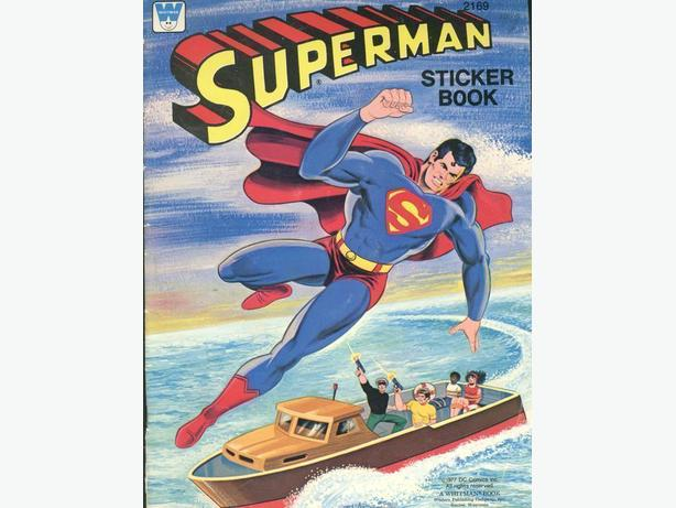 1977 Whitman Superman Sticker BK