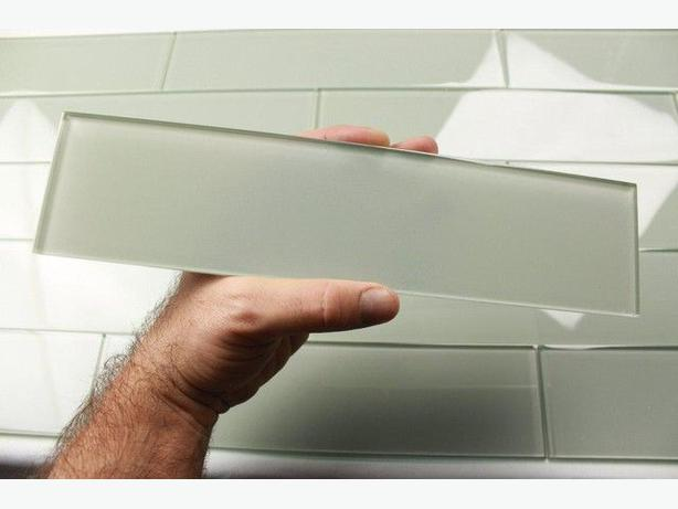 new 3x12 glass subway tile  great for kitchen or bath
