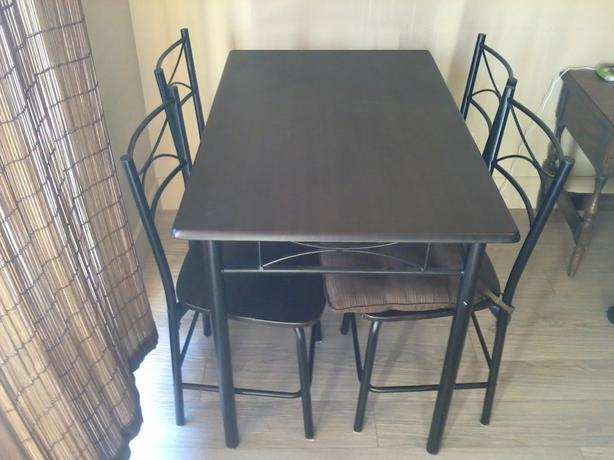 black kitchen table and 4 chairs west shore langford