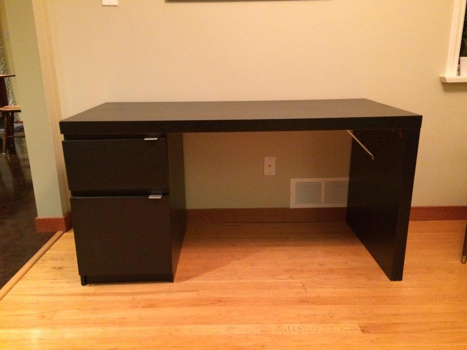 Ikea malm desk left side drawer and cupboard saanich - Mobile malm ikea ...
