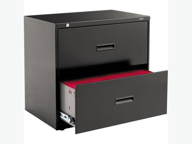 HON Black 2 Drawer Lateral Filing Cabinet