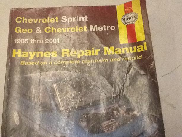 free geo metro repair manual