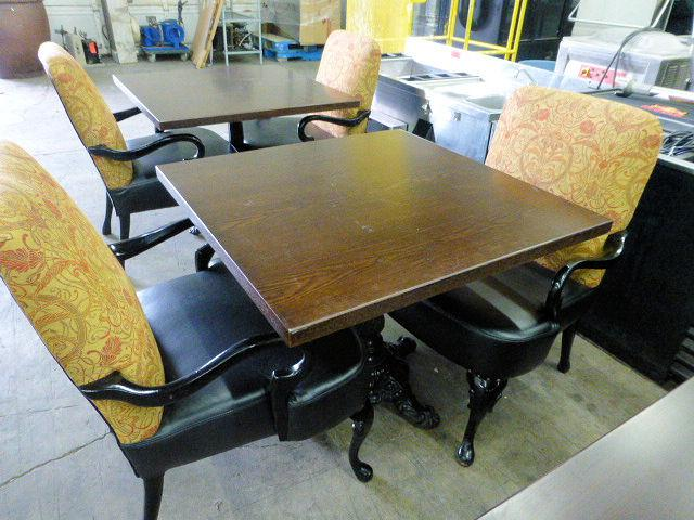 Tables chairs bar stools restaurant equipment auction
