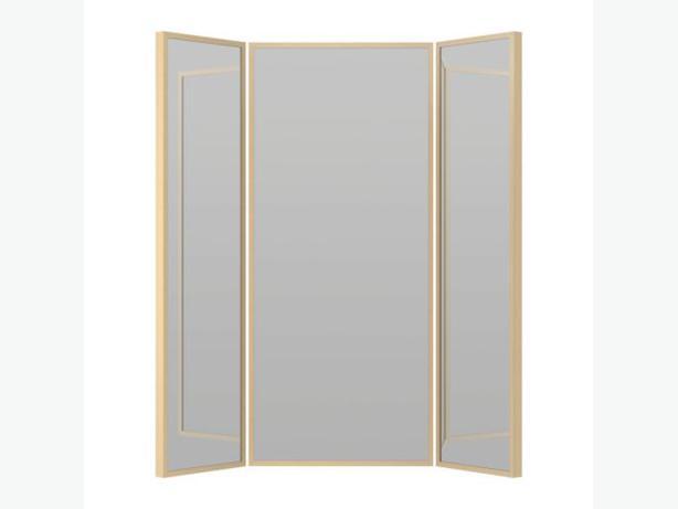 Retro 3 way wall mirror chrome trim saanich victoria for Bathroom 3 way mirror