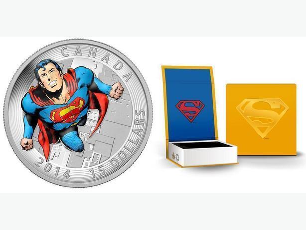 2014 Iconic Superman $15 Fine Silvier Coin
