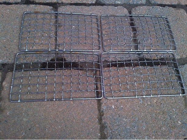 4 STEEL MESH LIGHT FRAME GRILL COVERS