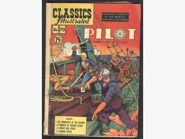 Classics Illustrated #70 October 1950 The Pilot