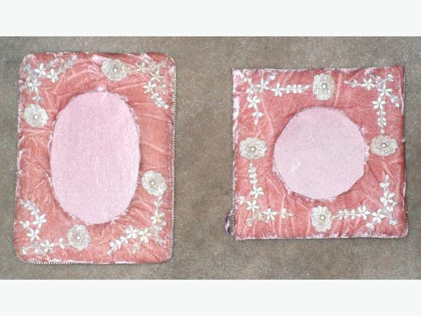 2 Small Padded Photo Frames, Made in the Philippines