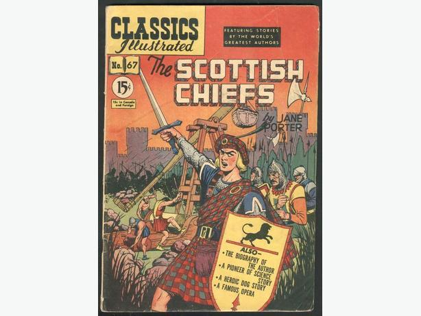 Classics Illustrated #67  March 1950 The Scottish Chiefs