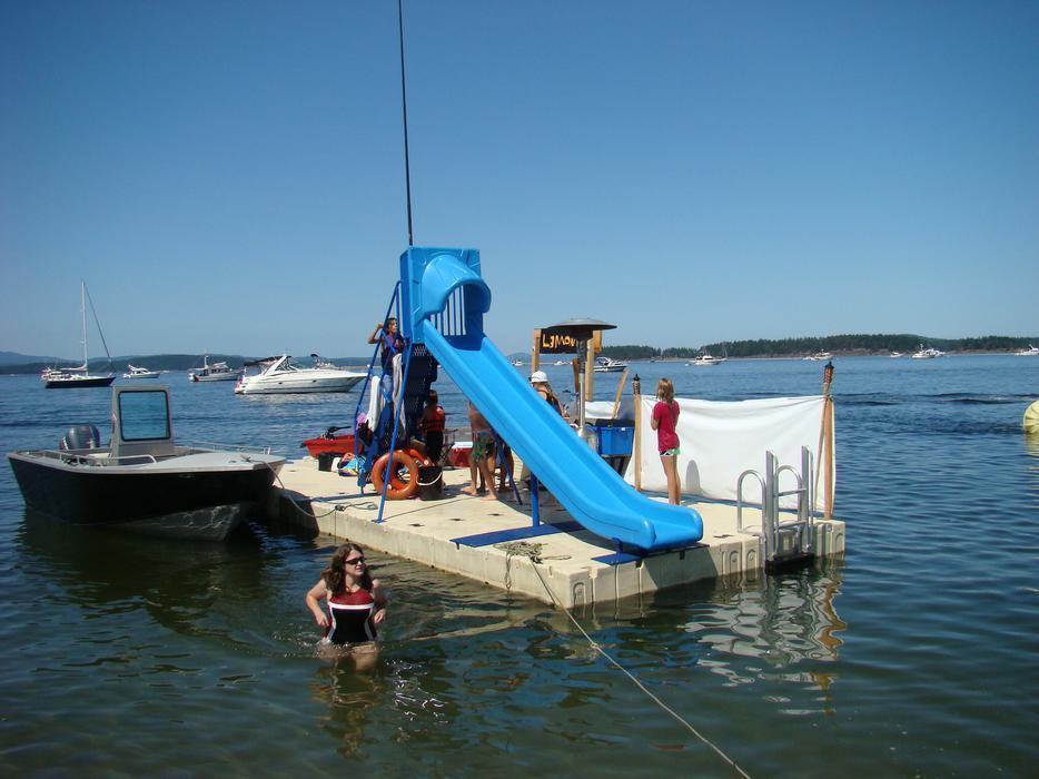 Floating Dock With Slide Bing Images