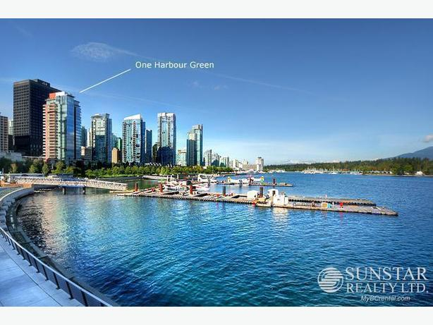 Coal Harbour Furnished Condo w/ 2 Balconies @ One Harbour Green (view)