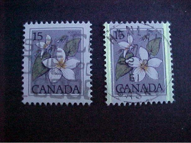 SCOTT 787 UNTAGGED 15 CENT CANADA VIOLET