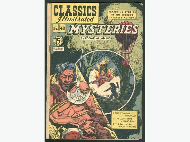 Classics Illustrated #40 December 1950 Edgar Allan Poe Mysteries