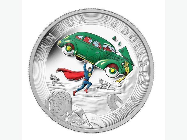 2014 $10 Canada Fine Silver Superman Coin