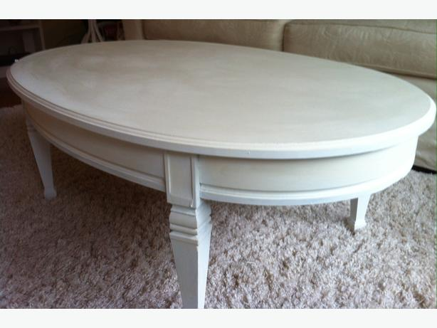 Shabby Chic Oval Coffee Table Antique White 80 Oak Bay Victoria
