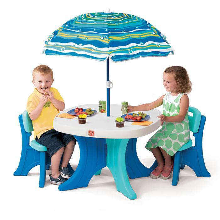Patio Umbrellas Edmonton Alberta: Kid's Table With 4 Chairs *NO Umbrella