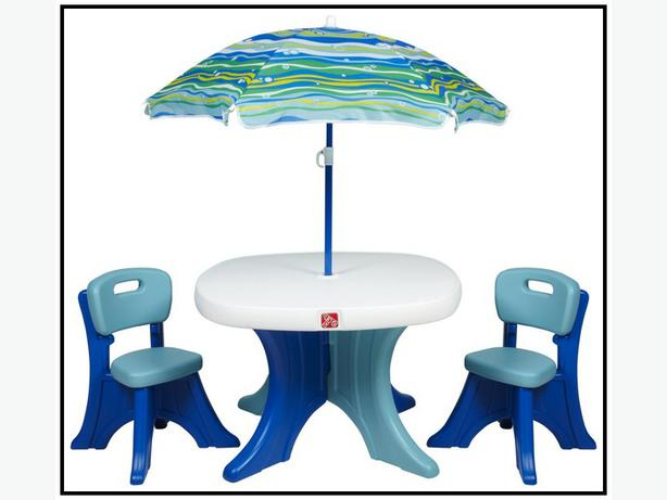 Step 2 Patio Set Kid S Table With 4 Chairs No Umbrella