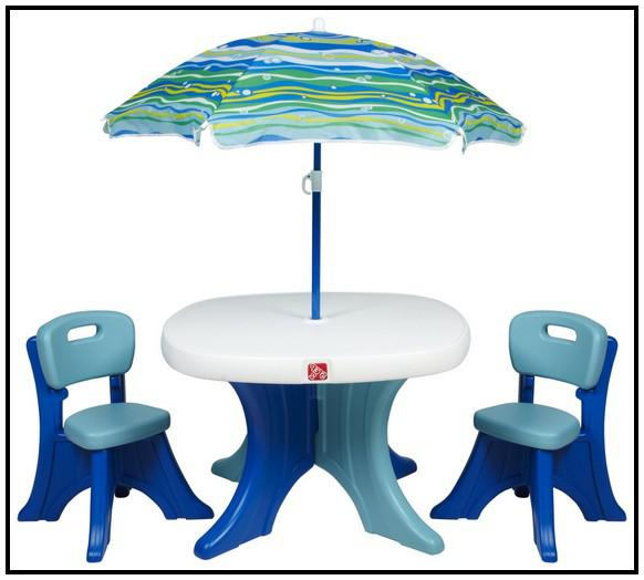 Delightful Step 2 Patio Set Step 2 Patio Set Kid 39 S Table With 4 Chairs NO Umbrella .