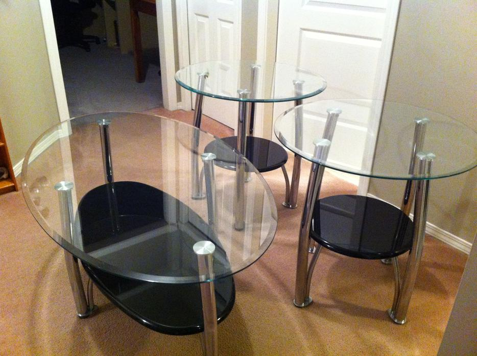 Glass Coffee Table And End Tables Chilliwack Fraser Valley Mobile