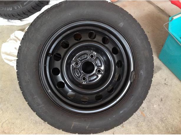 Used snow tires with rims