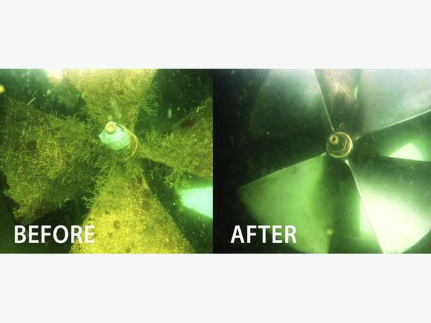 Boat Cleaning - Underwater