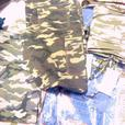 LAIDES JEANS - HI QUALITY, 20 UNITS, BLUE AND CAMOUFLAGE