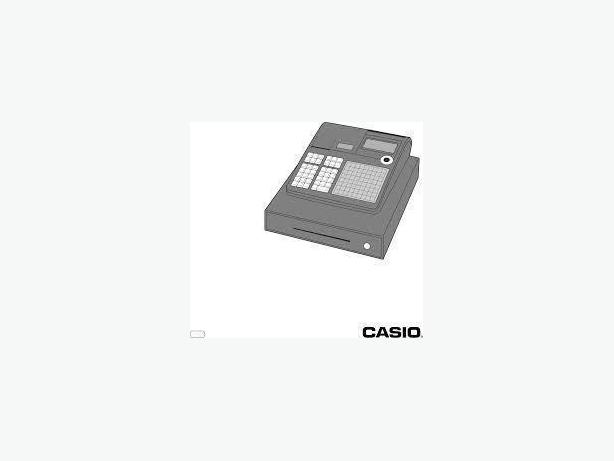 CASH REGISTER - CASIO PCRT1550, 2 TAPE THERMAL PRINTER, PROGRAMM