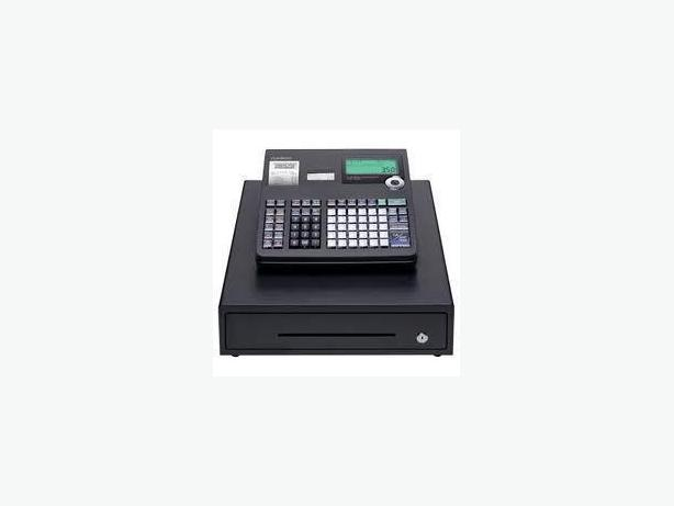 CASH REGISTER - CASIO T2100L, TWIN THERMAL TAPE,KEYS,MANUAL, PRO