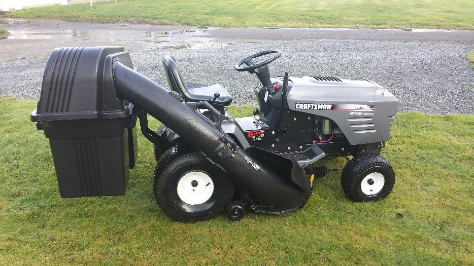 Craftsman Double Bagger : Craftsman lawn tractor north saanich sidney victoria