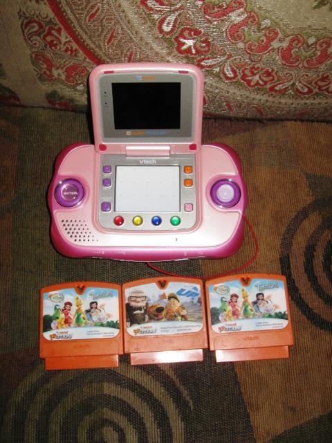 Vtech v smile cyber pocket learning system pink w 3 learning cartridges central ottawa inside - Console vtech vsmile pocket ...