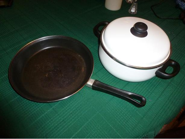 Heavy Frying Pan and Large Pot