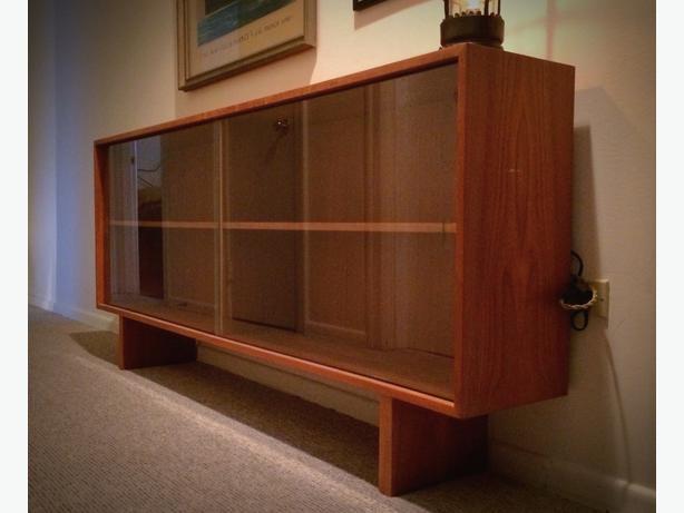 Sliding Glass Doors Buffet ~ S mcm teak sideboard with glass sliding doors