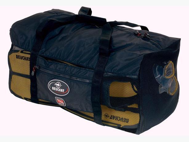 Dive gear beuchat scuba diving mesh bag black west for Dive gear bag