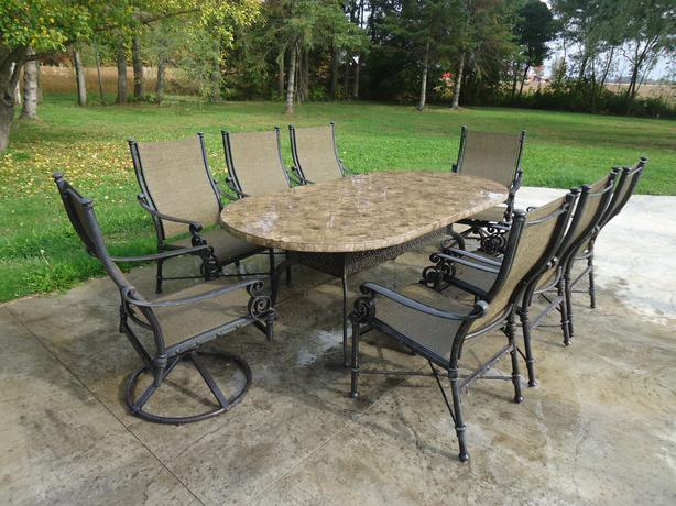 Awesome Impressive Marble Patio Set * 8 Chairs *