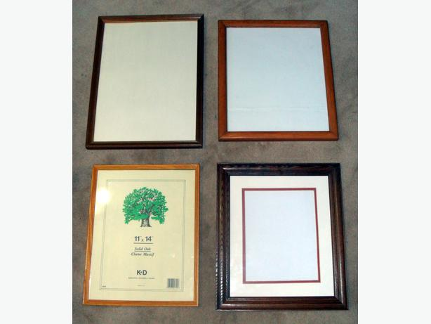 4 Big Wooden Photo Frames