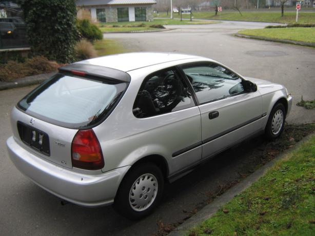 1996 honda civic cx hatchback with warranty and winter for Honda civic warranty