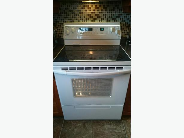 Flat Top Stove ~ Kitchenaid flat top stove with self cleaning convection